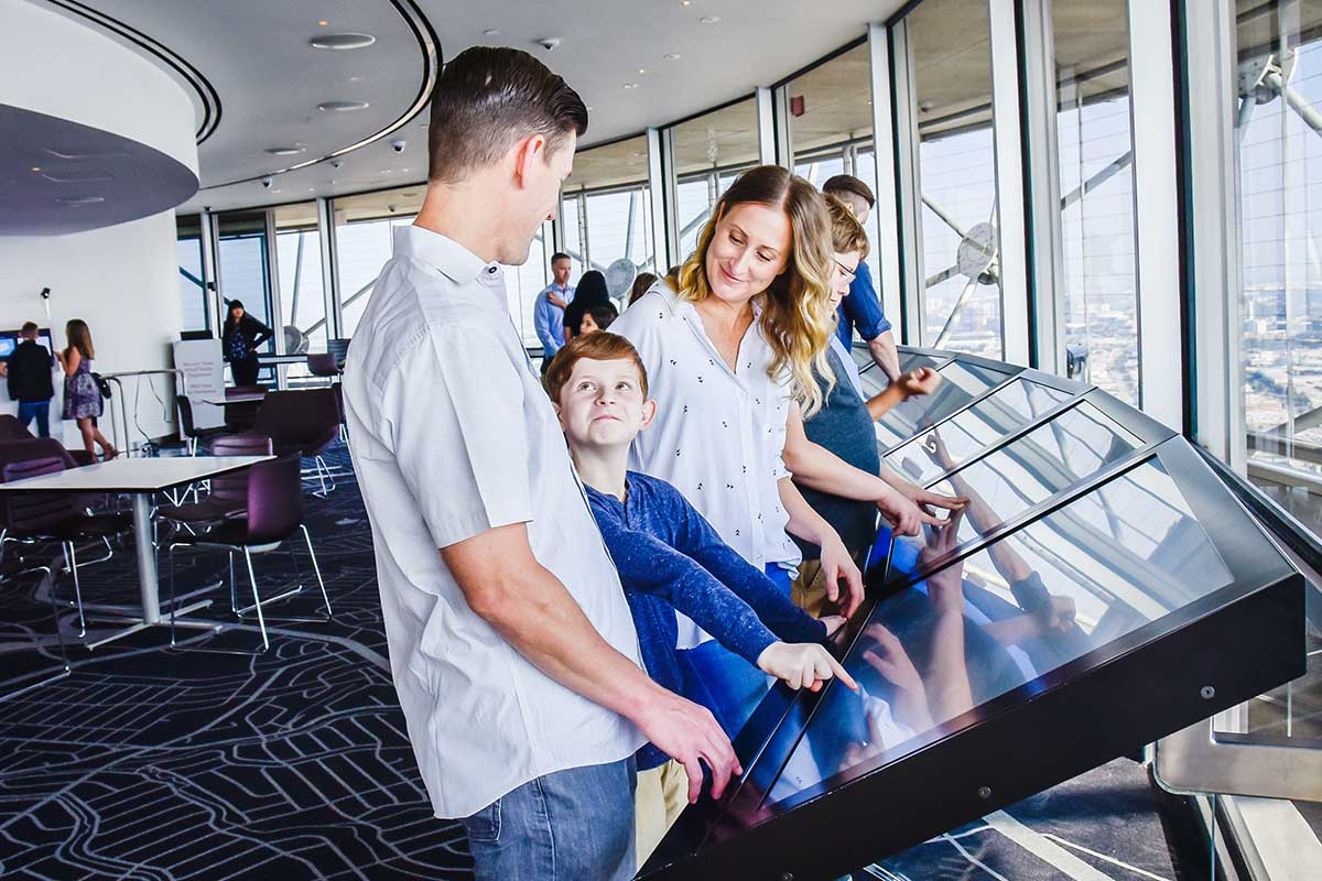 Family at Reunion Tower Dallas