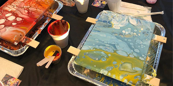 Acrylic Pouring – Flip Cup or Dipped Coasters